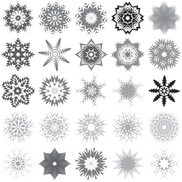 13 Snowflake Clip Art Vector Graphic Images