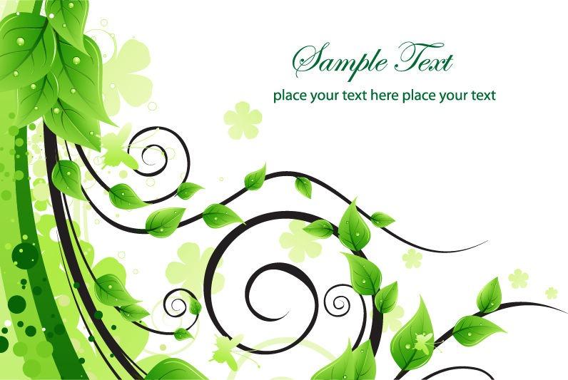 Free Vector Swirl Designs Green
