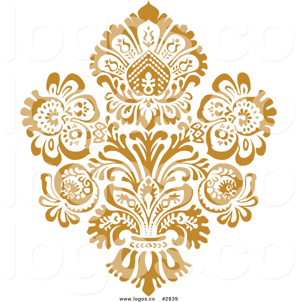 16 Gold Vector Art Designs Images Gold Floral Design