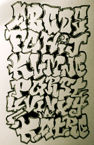 16 Graffiti Block Font Images