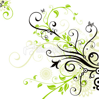 14 Green Swirl Designs Images