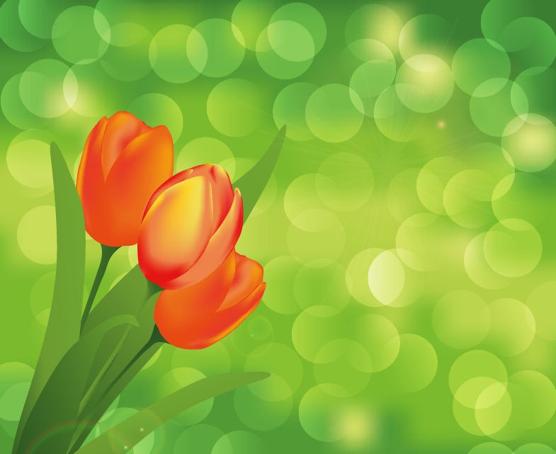 Green Flower Vector Art