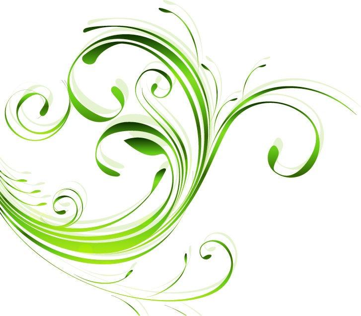 Green Swirl Vector