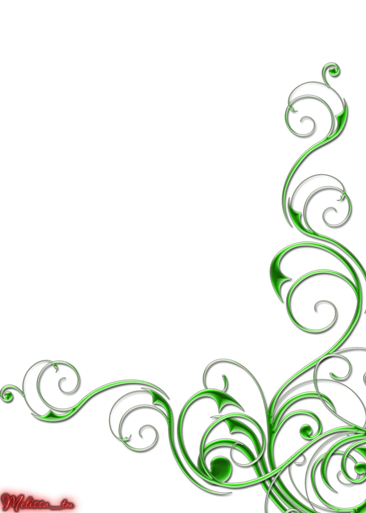 Swirl Art Designs : Green swirl designs images and black