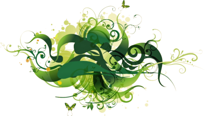Green Vector Graphic PSD