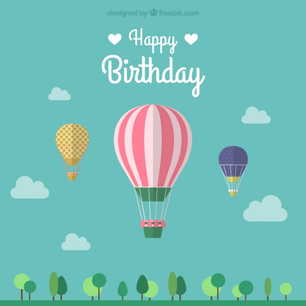 Happy Birthday Balloon Vector