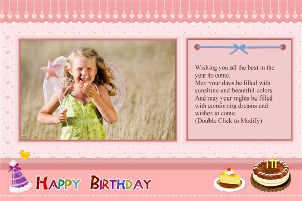 Happy Birthday Card Template Free