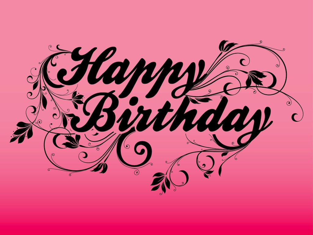 16 Happy Birthday Font Art Images