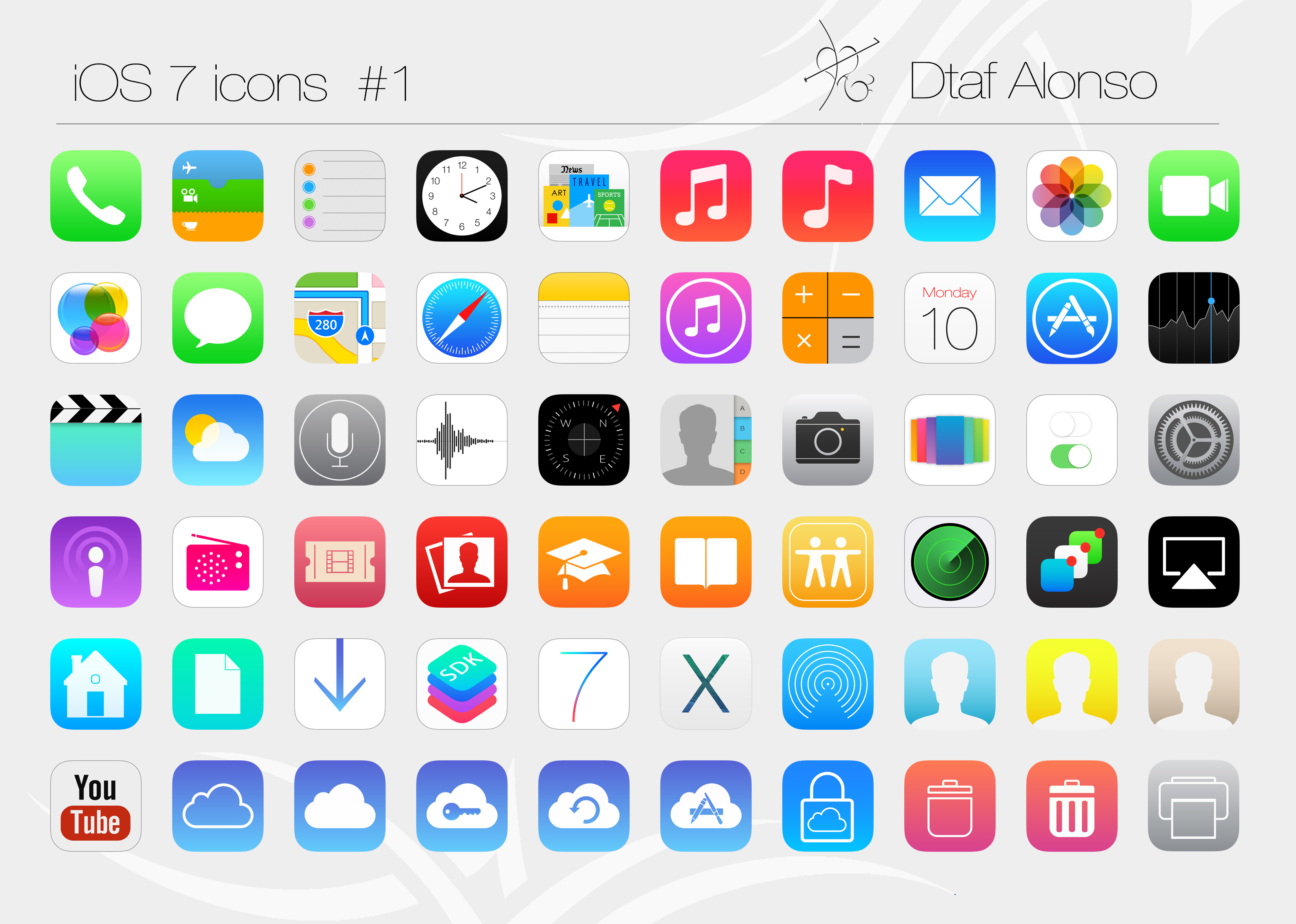 15 IOS 7 Videos Icon Images