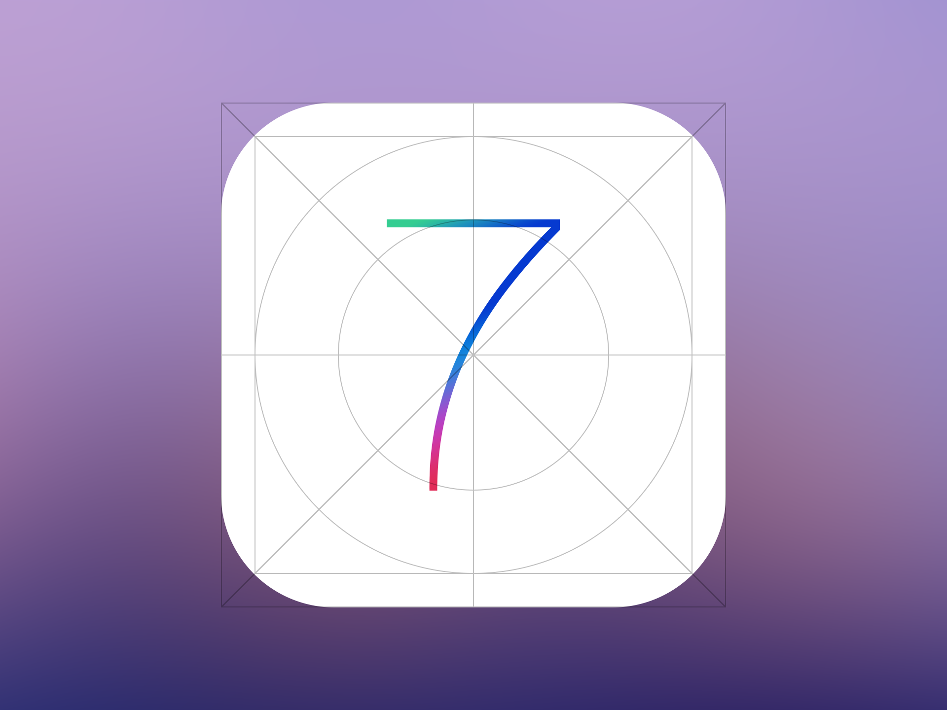 14 IOS 7 App Icon Template PSD Images