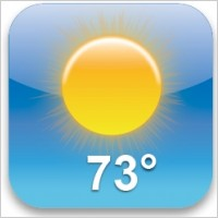 iPhone Weather App Icon