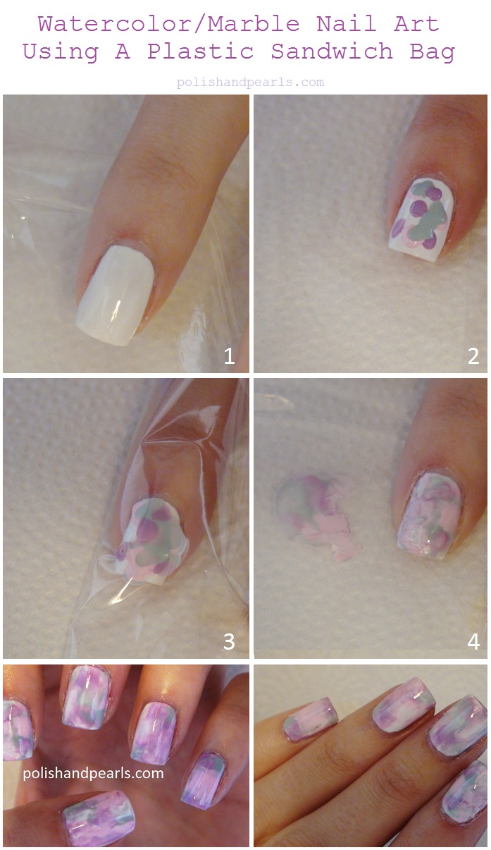 Marble Nail Art without Water