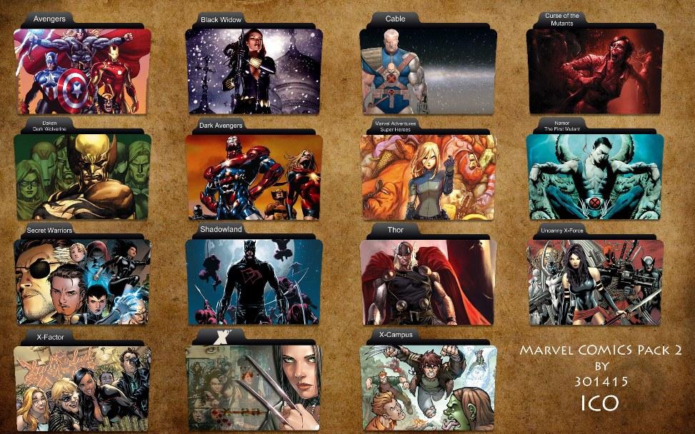 Marvel Comics Folder Icon
