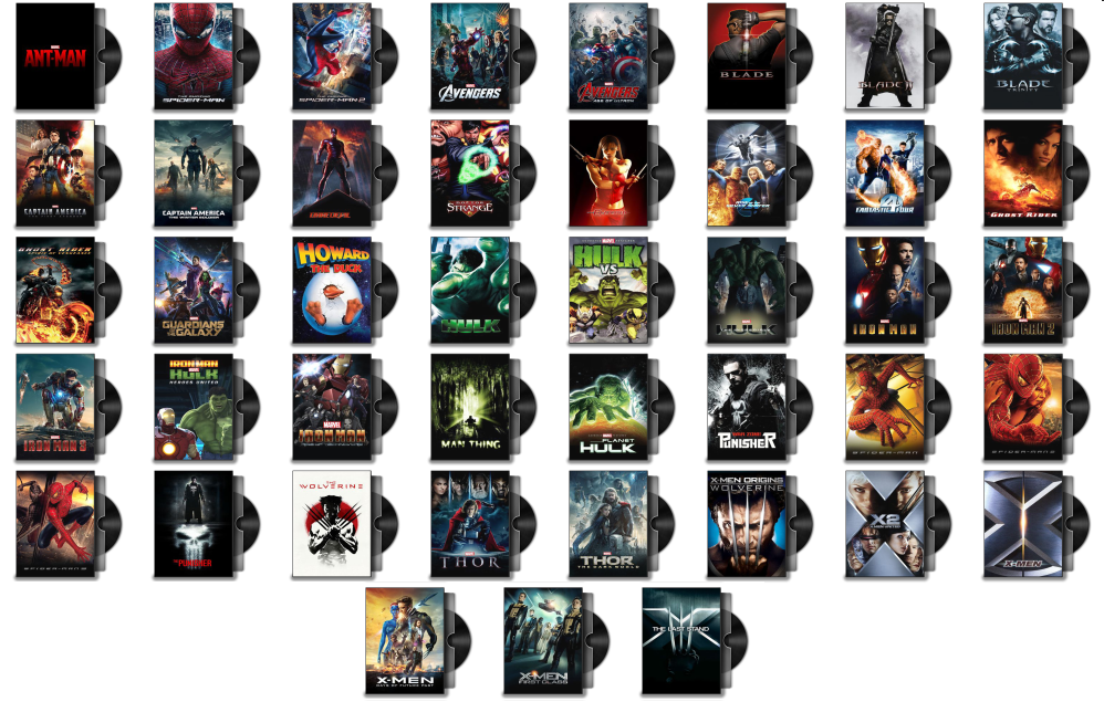 Marvel Movie Folder Icons
