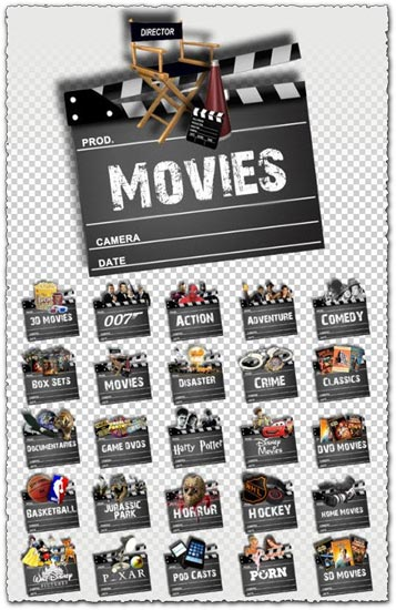 12 Media Browser Icons Movies Images