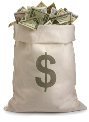 12 Guns Money Bag In PSD Images