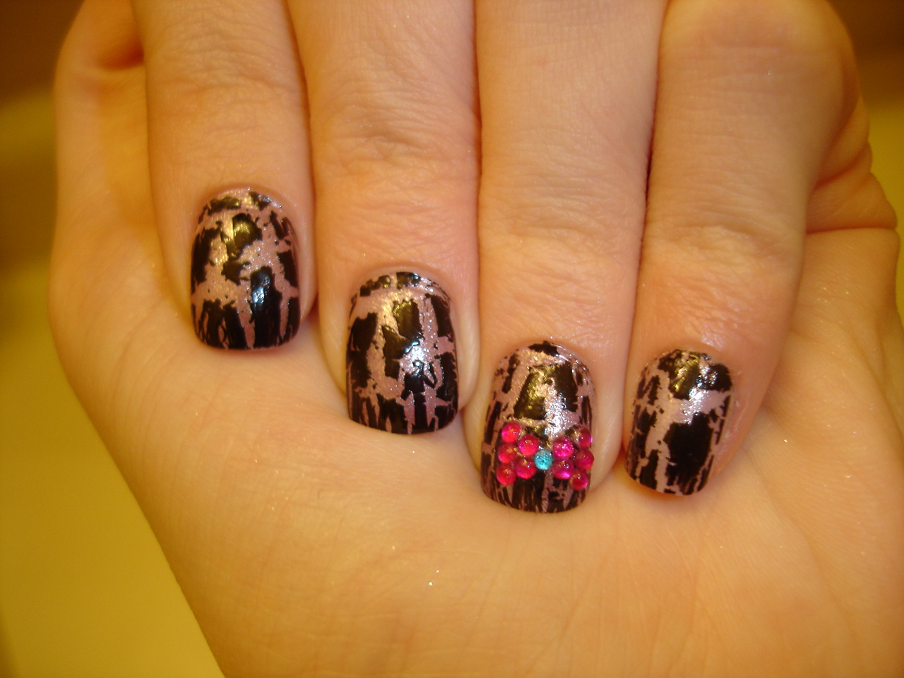 15 Nail Designs With Bows And Rhinestones Images
