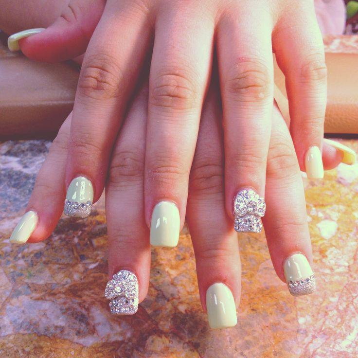 15 Nail Designs With Bows And Rhinestones Images - Nail Designs with ...