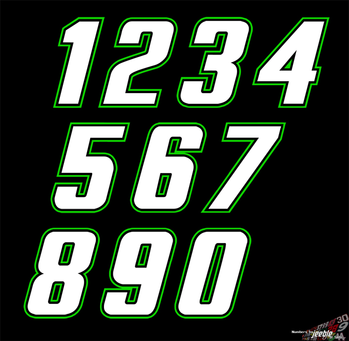 10 Racing Number Fonts Images - Race Car Number Fonts ...