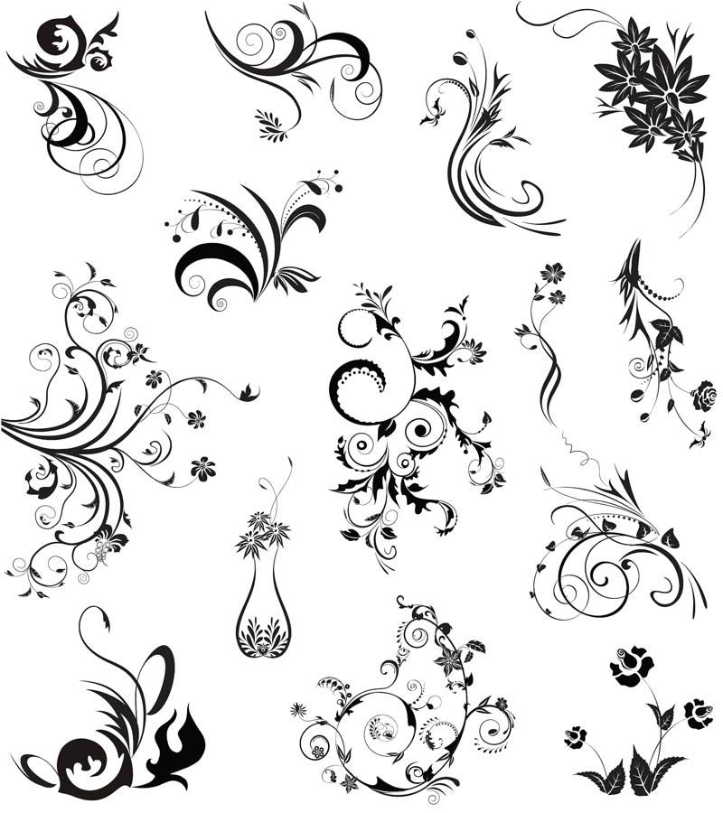 10 Black Ornament Vector Images
