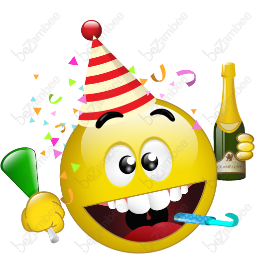 happy new year smiley face clip art - photo #39