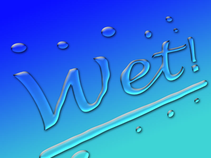 12 Wet Looking Fonts Images