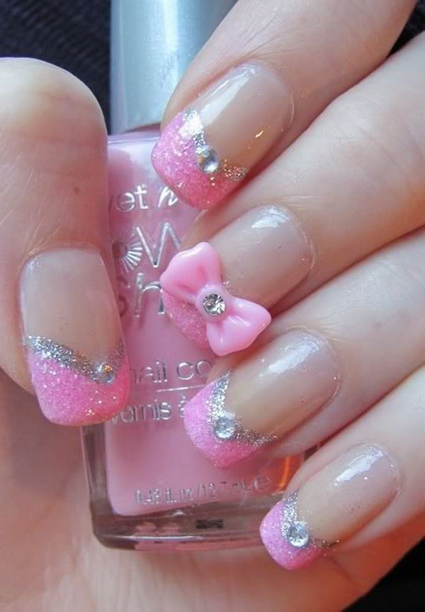 Beautiful Pink N Black Nail Designs Picture Collection