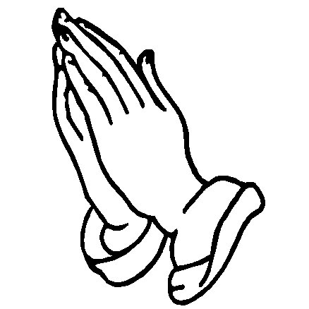 Praying Hands Symbols Clip Art