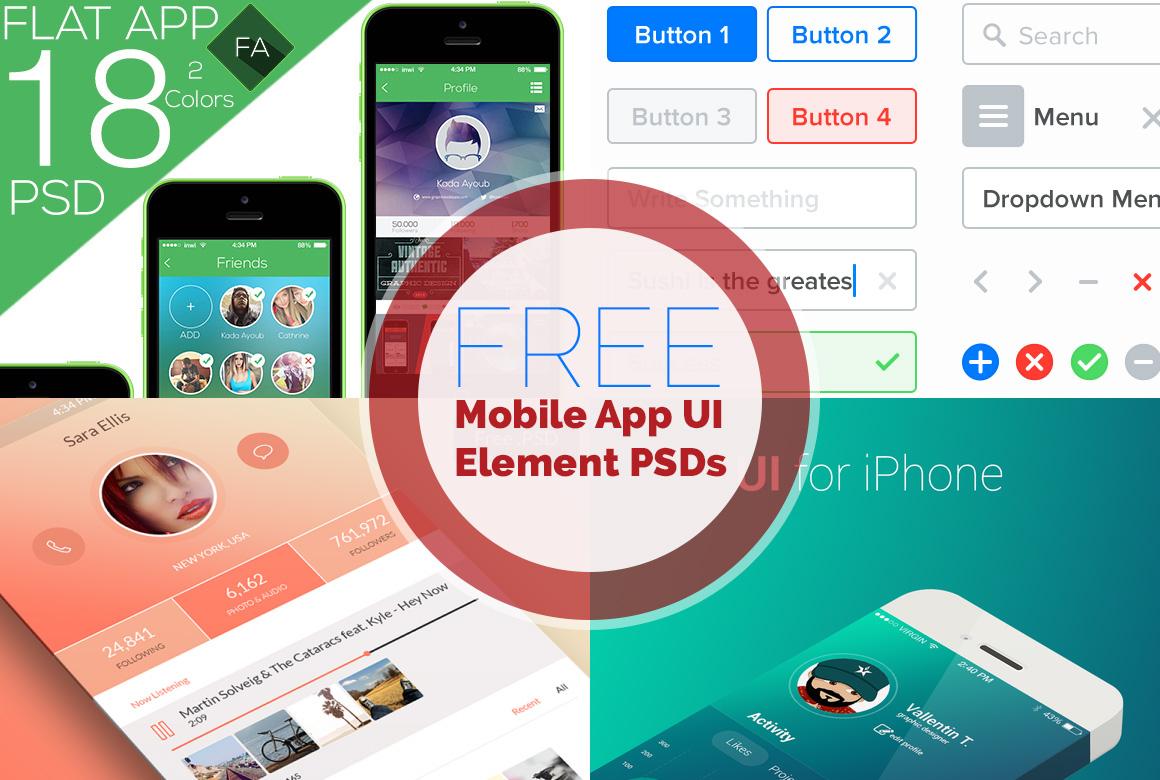 PSD Mobile-App Templates Free