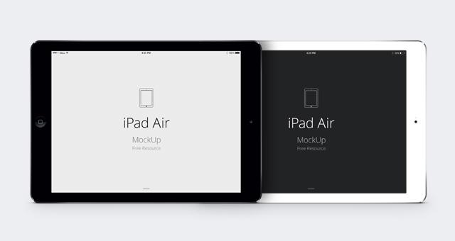 PSD Vector Mockup iPad Air