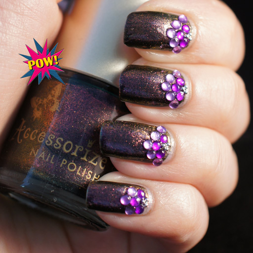10 Purple Nail Designs With Gems Images Purple Acrylic Nail