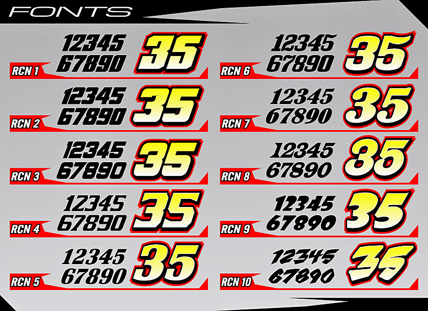 10 Racing Number Fonts Images