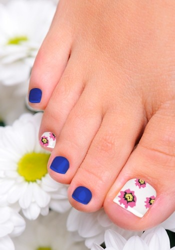 Red and White Toenail Designs