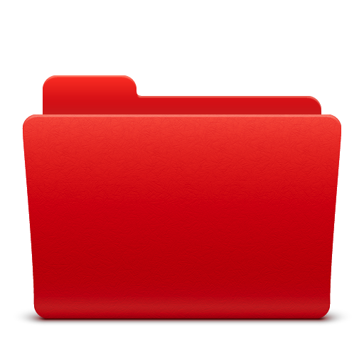 7 Red Folder Icon Images
