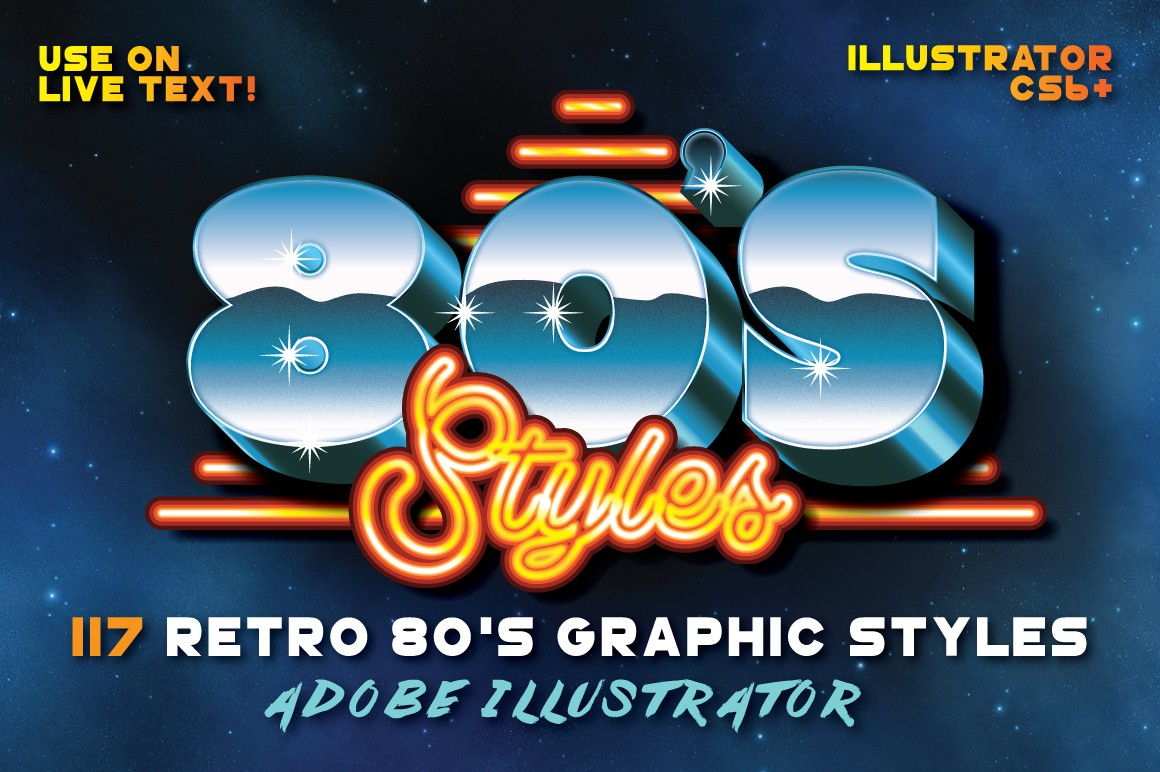 Retro 80s Graphics