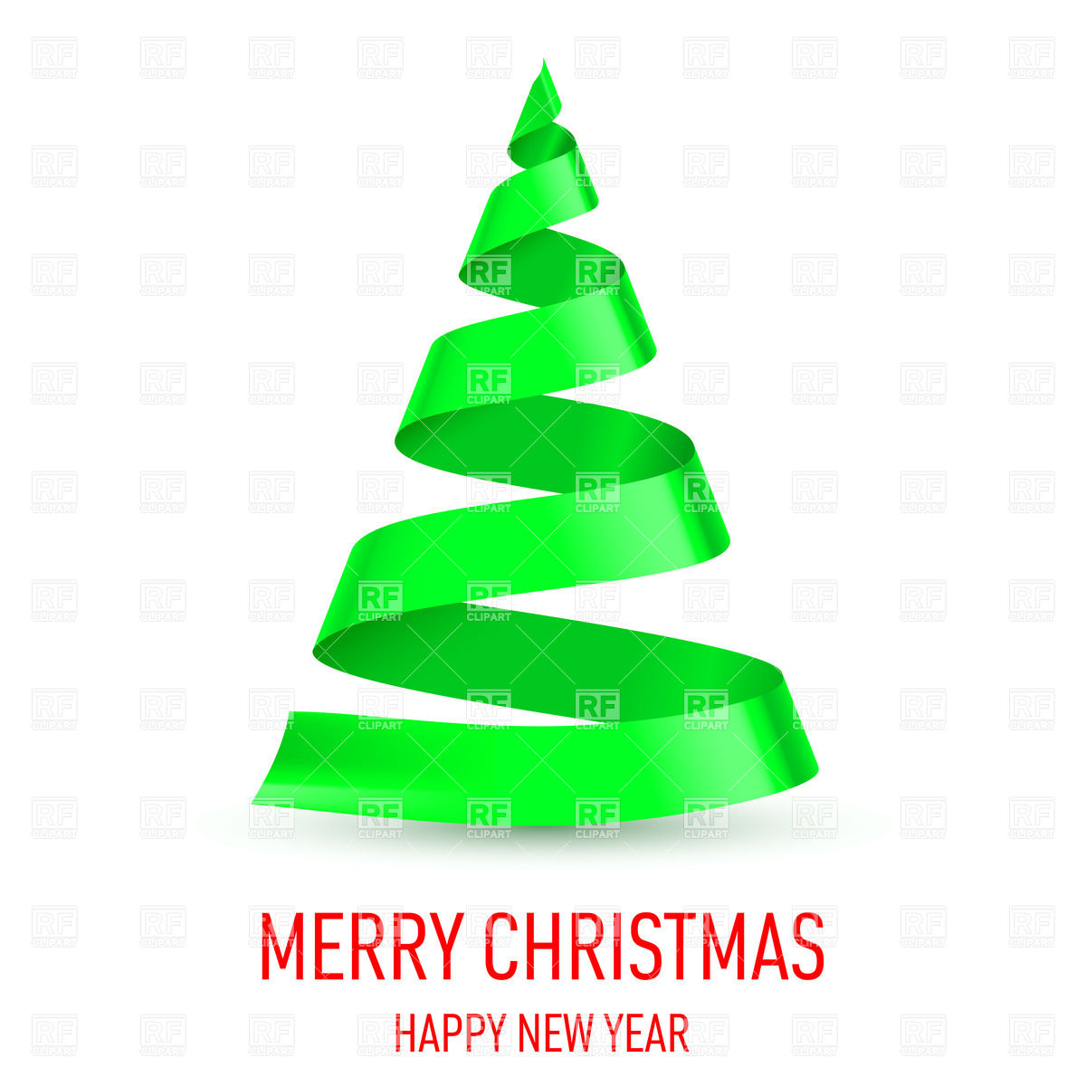 16 Christmas Tree Ribbon Vector Free Images