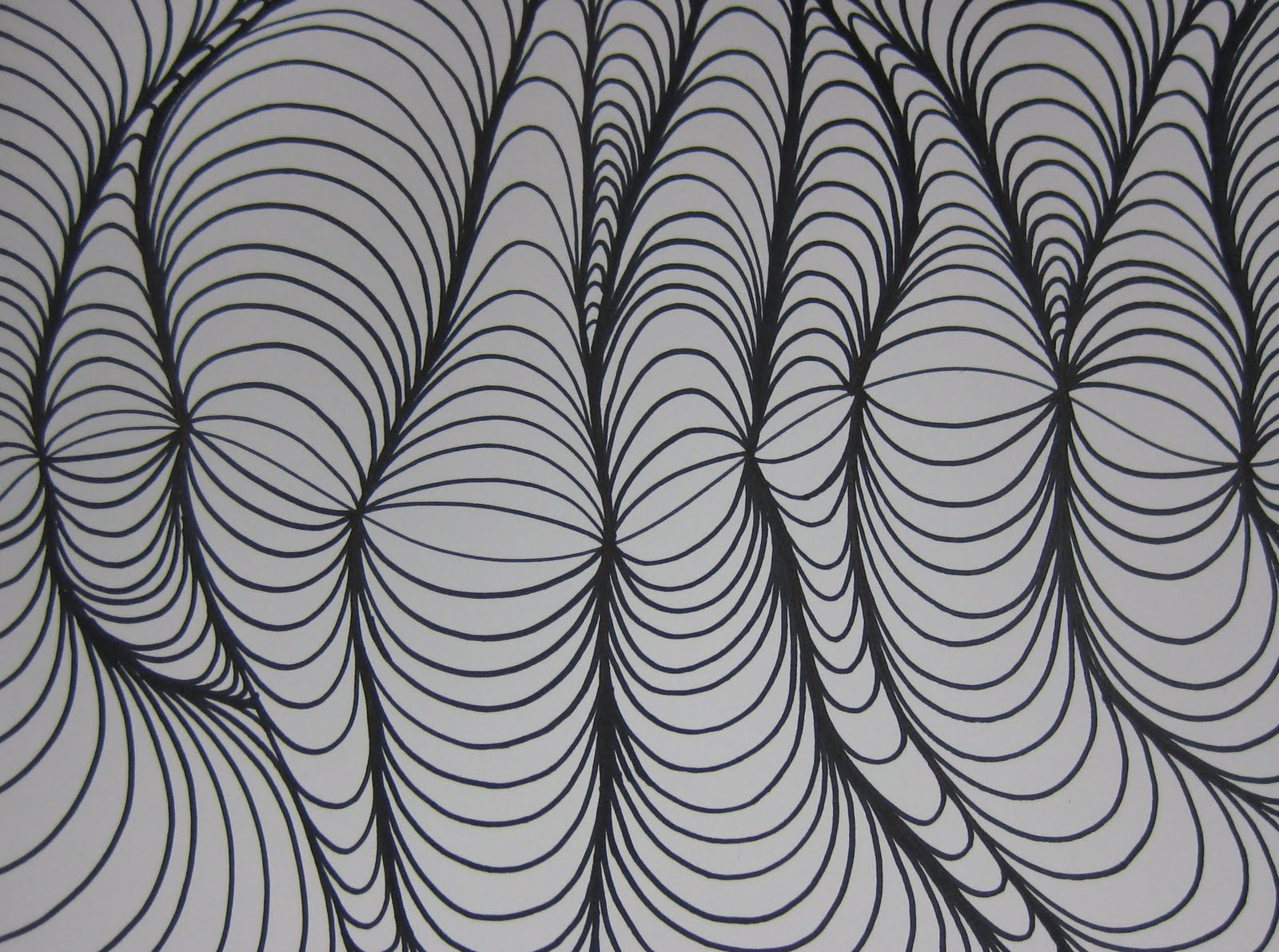 Line Design Op Art : Abstract designs to draw images cool easy