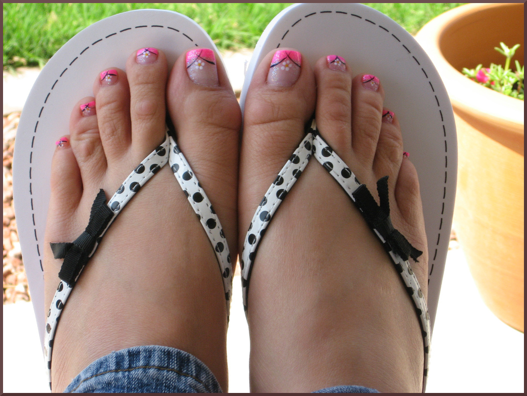 Simple Toe Nail Designs