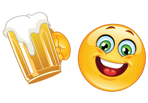 7 Smiley Emoticon Drinking Beer Images