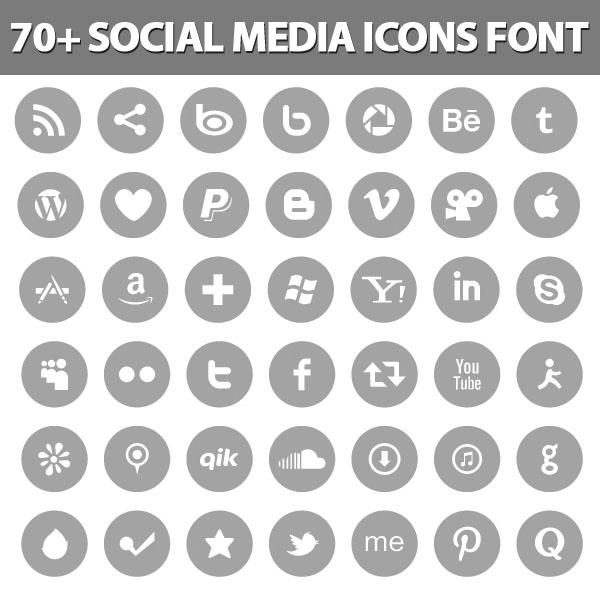 5 Social Media Icon Font Images