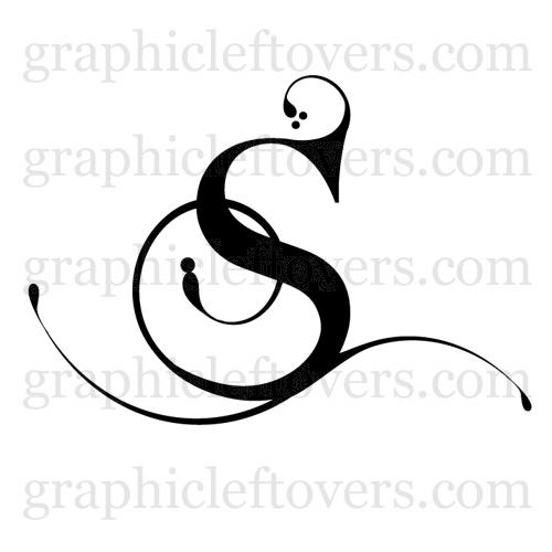Tattoo Font Letter S