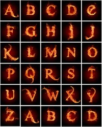 Alphabet Letters On Fire