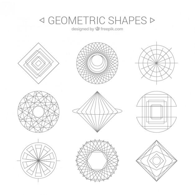 14 Geometric Shapes Vector Art Images - Geometric Shape Clip