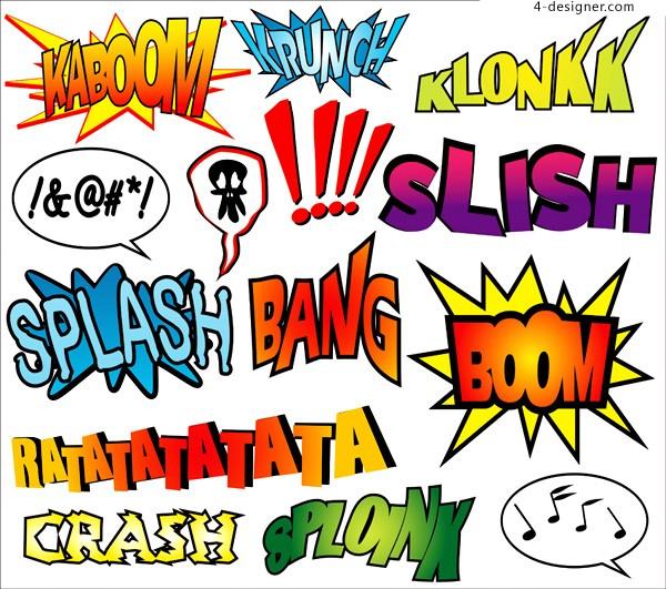 Vector Comic Book Words Sounds