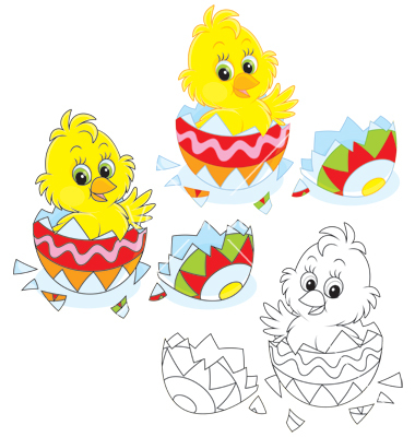 19 Chick Easter Vectors Images