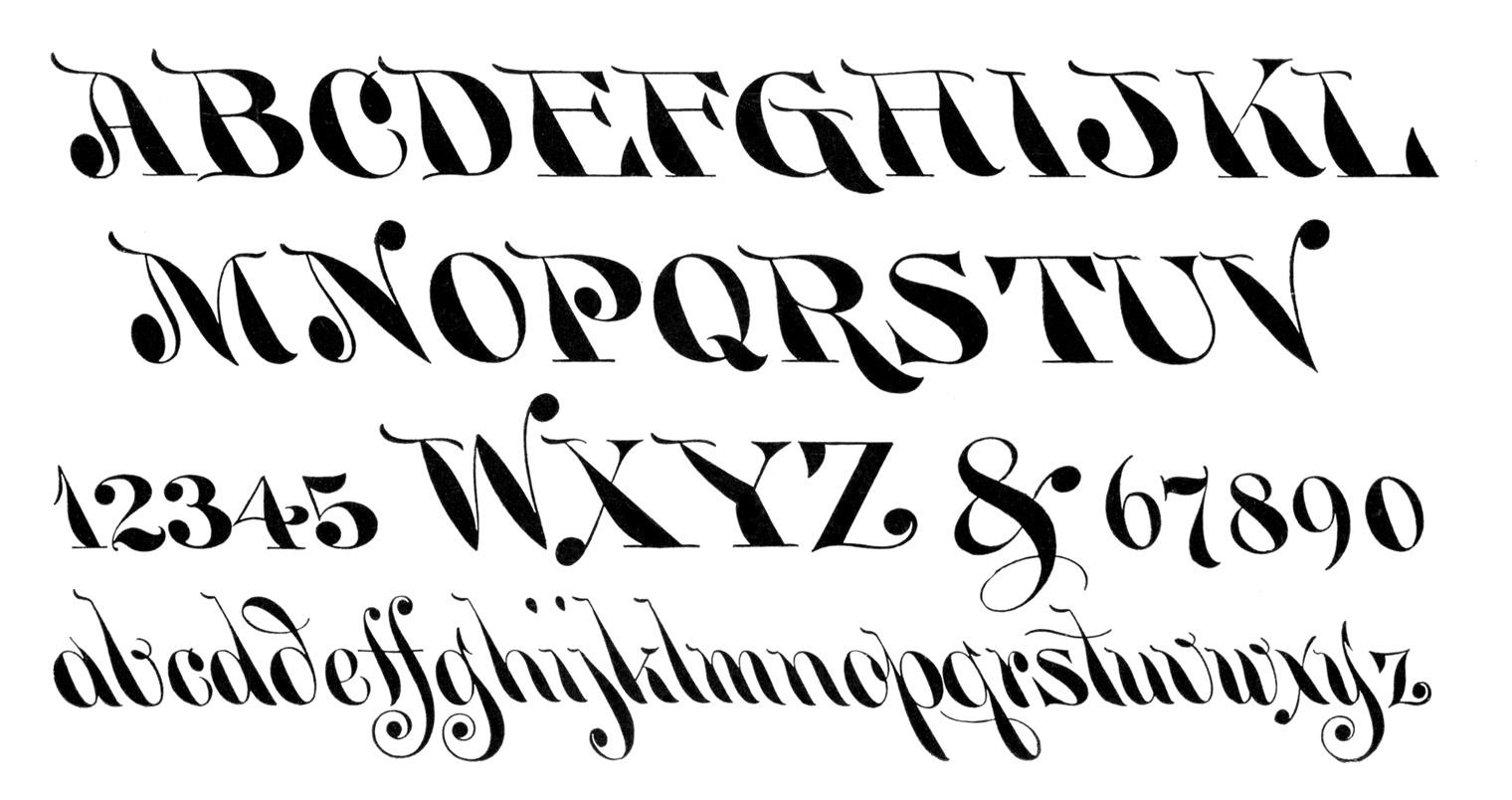 11 1900 Vintage Fonts Images
