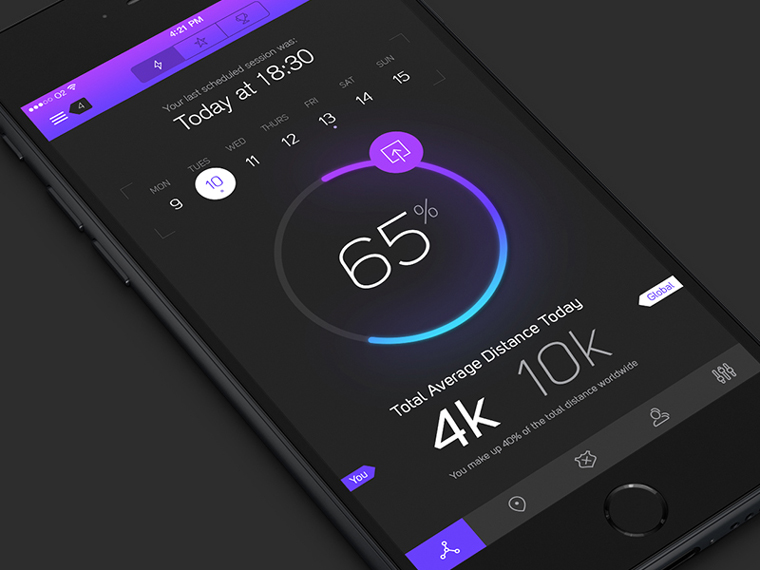 6 iPhone App UI Design