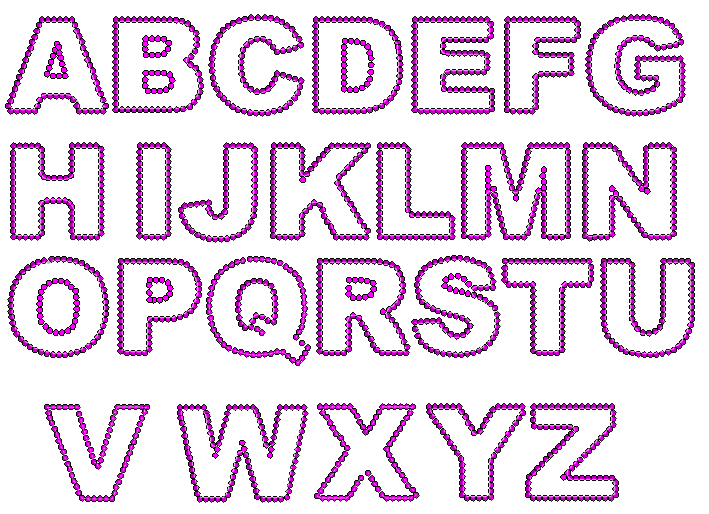 different fonts of writing a z promo