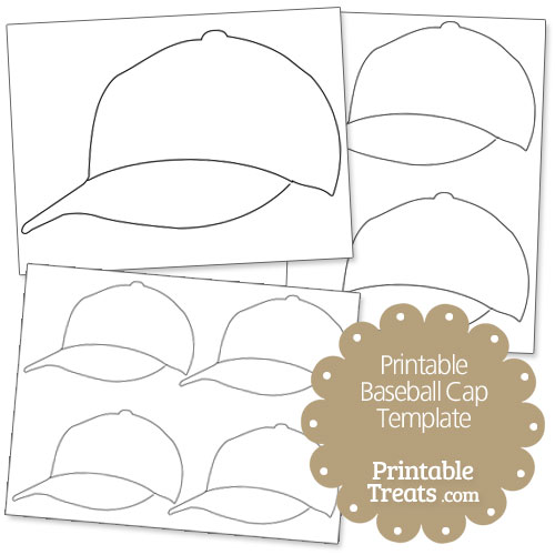 picture about Printable Hat Template titled 14 Baseball Hat Template Printable Illustrations or photos - Baseball Cap