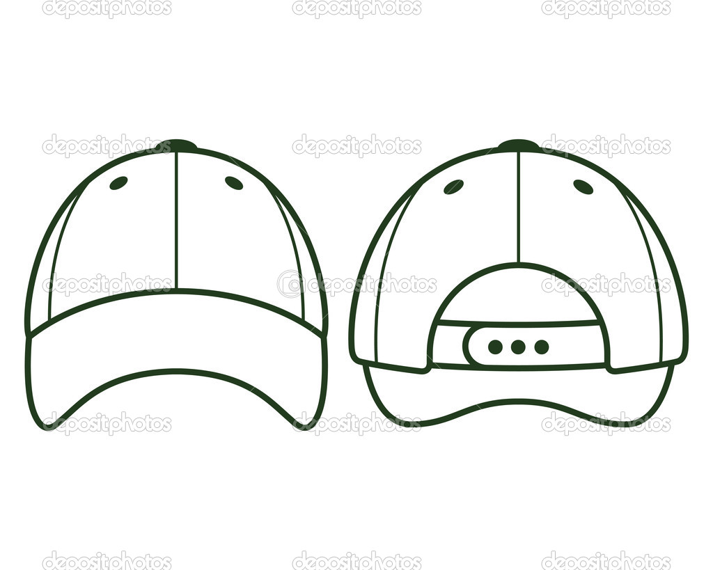14 baseball hat template printable images baseball cap vector